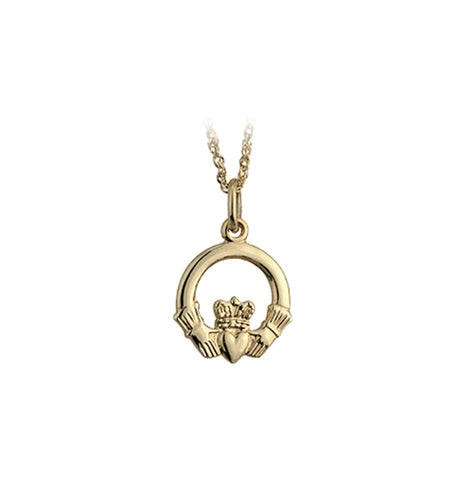 Claddagh Pendant - Yellow Gold