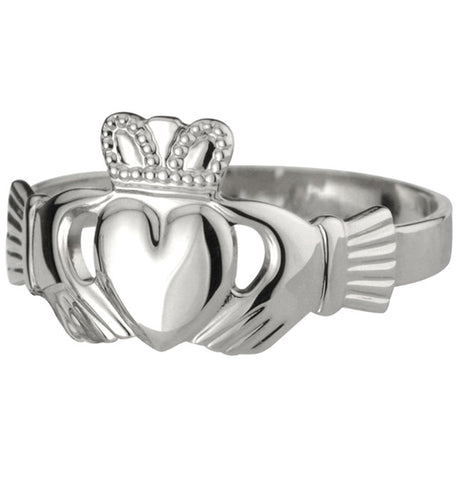 Claddagh Ring - White Gold