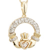 Diamond Claddagh Pendant