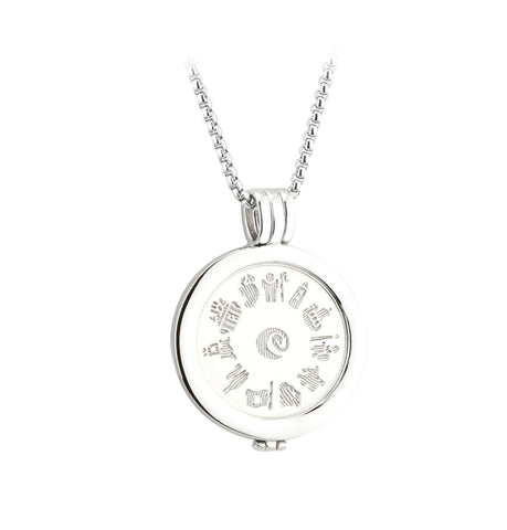 Sterling Silver History of Ireland - Disc Pendant Front