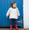 Kids Unisex Handknit Aran Sweater Natural