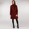 Middleton Knee Coat - Red Salt & Pepper Tweed Full