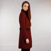 Middleton Knee Coat - Red Salt & Pepper Tweed Side
