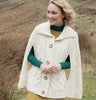 Wool Poncho with Collar Details