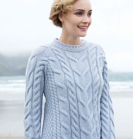 Supersoft Crew Neck Aran Sweater