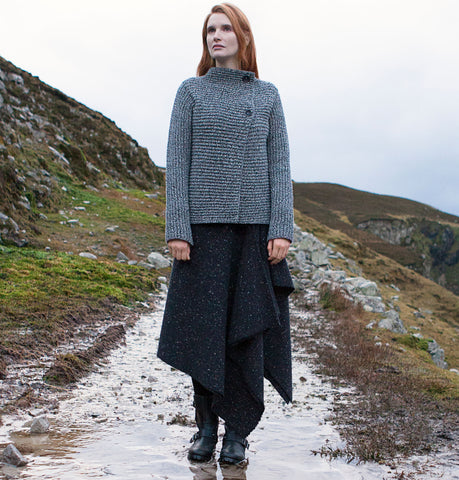 Fisherman Out of Ireland Crossover Ladies Cardigan Details