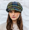 Ladies Newsboy Cap - Green & Blue Check