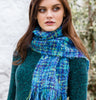 Blue Mix Scarf Side