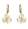 Diamond Shamrock Earrings - Yellow Gold