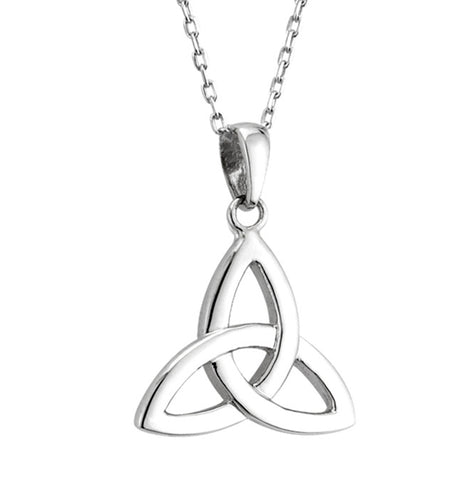 Trinity Knot Pendant - White Gold