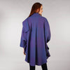 Purple Heather Cape Shawl Long Back