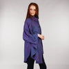 Purple Heather Cape Shawl Long Side