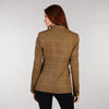 Ladies Tweed Jacket - Golden Brown & Pink Windowpane Back