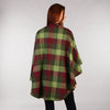 Throw Cape Shawl Green Wine Check Back