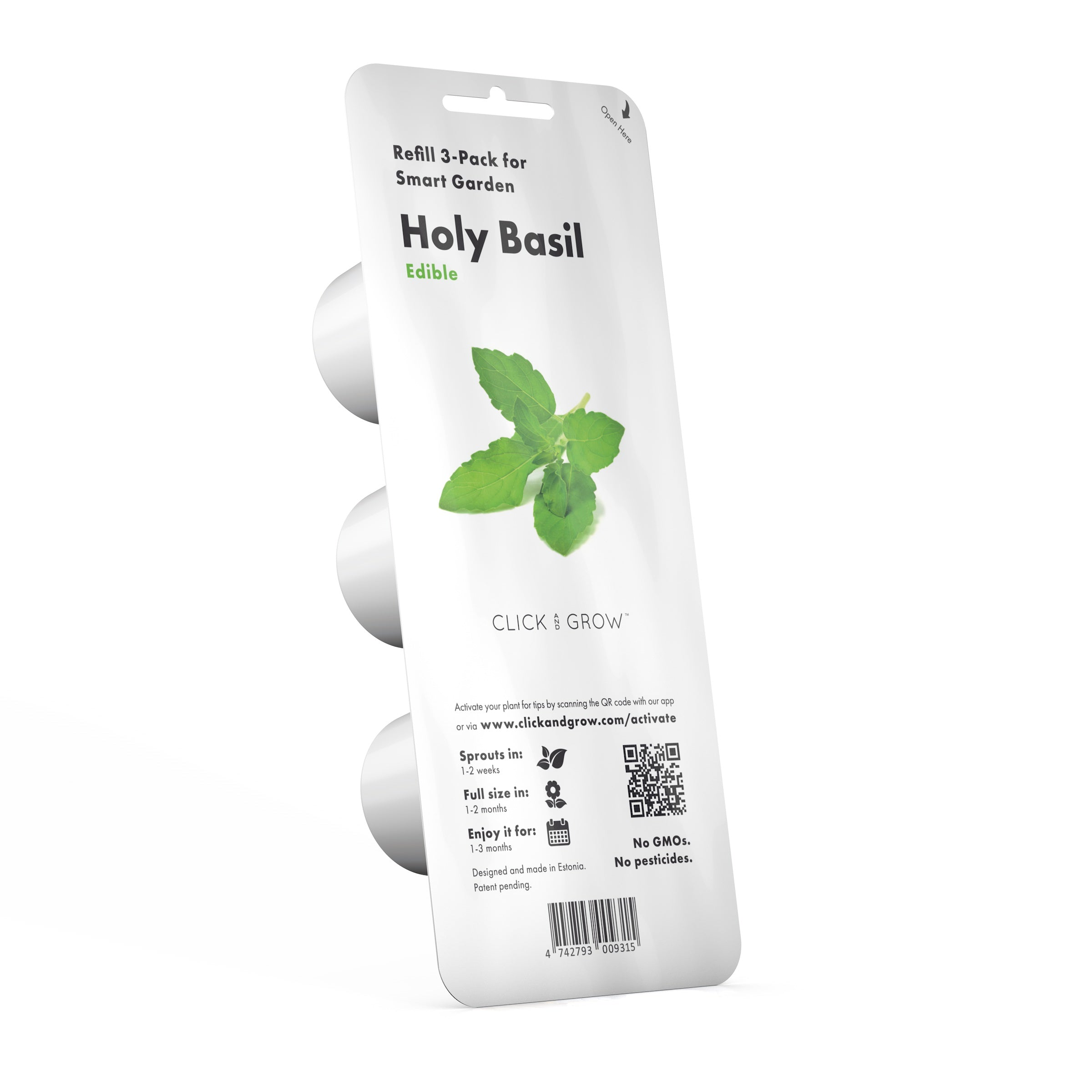 Grow Tulsi in an indoor garden. Holy basil grows fast in the Click & Grow indoor herb garden.