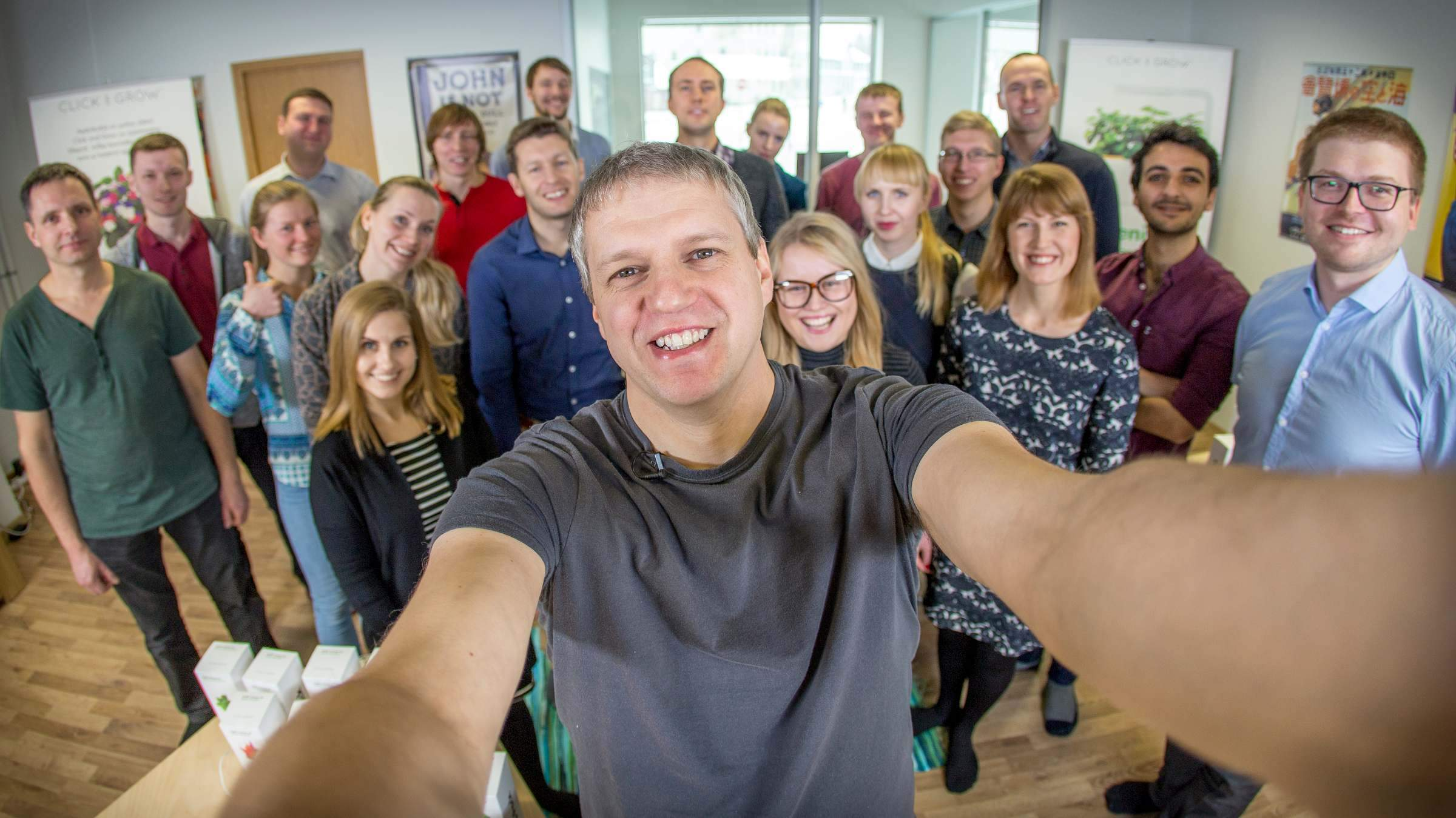 Click & Grow team selfie
