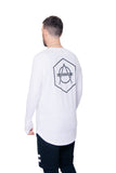 Hexagon logo longsleeve white