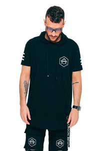 Hooded tee black