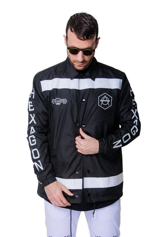 Hexagon Coach jacket black