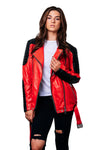 Leather Jacket Red