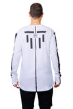 Hexagon Robot longsleeve white