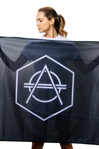 Official Don Diablo Flag black with white logo