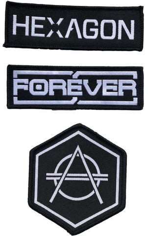 3pcs Hexagon woven patch set