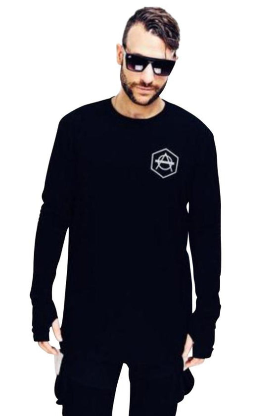 Hexagon logo longsleeve black