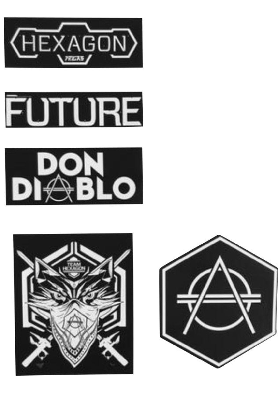 Hexagon Don Diablo 5pcs Sticker Set