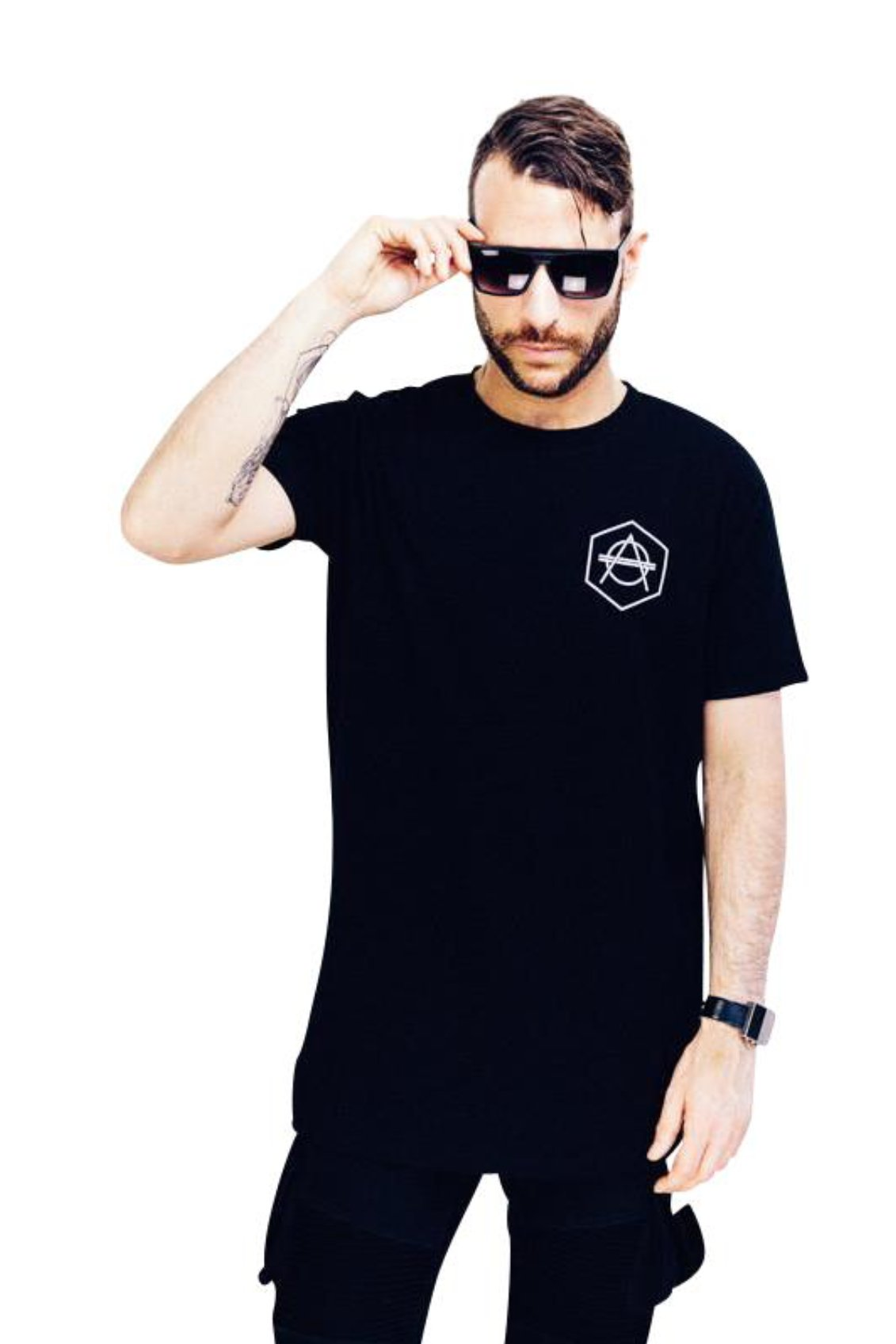Hexagon logo Tee black