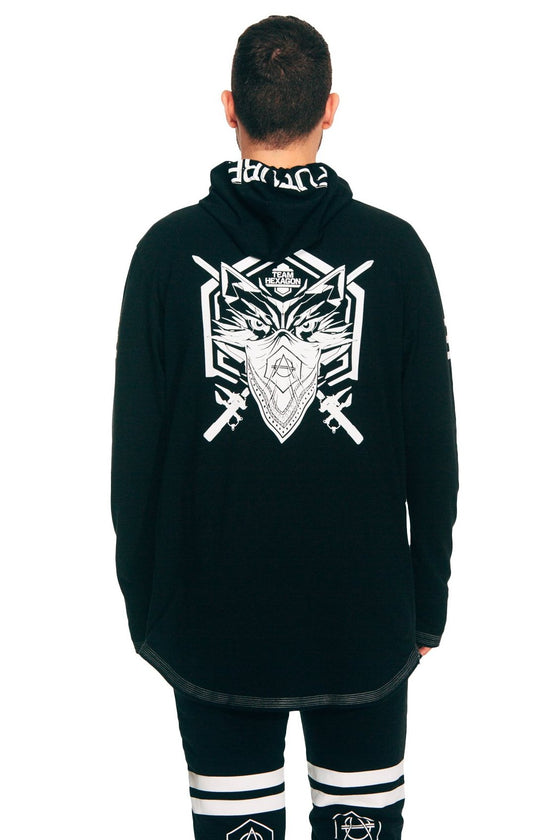 Wolf hooded longsleeve