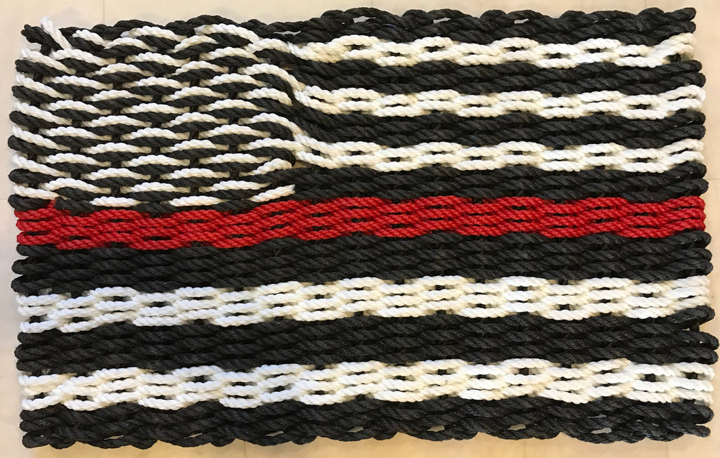 Maine Rope Flag - Thin Red Line - Custom Cordage