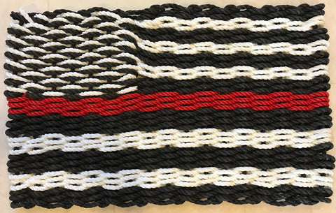 Maine Rope Flag - Thin Red Line