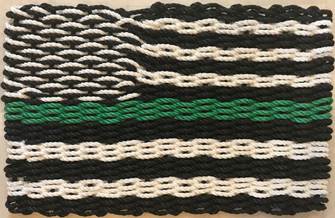 Maine Rope Flag - Thin Green Line