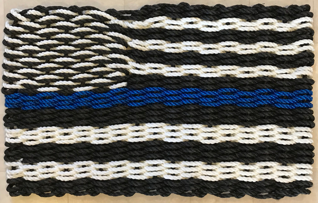 Maine Rope Flag - Thin Blue Line