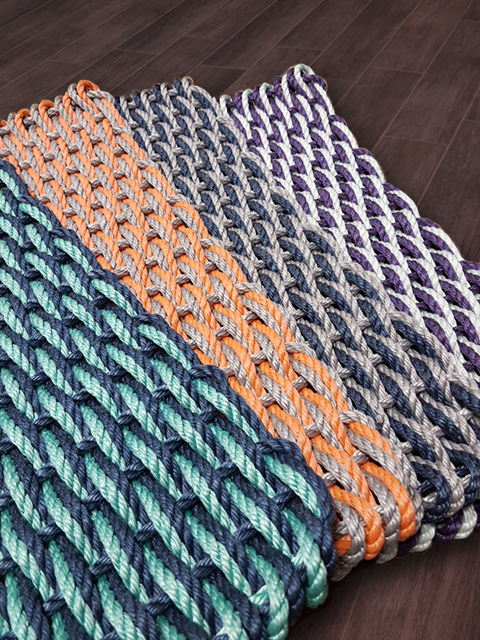 Maine Rope Mat - Small Double Weave