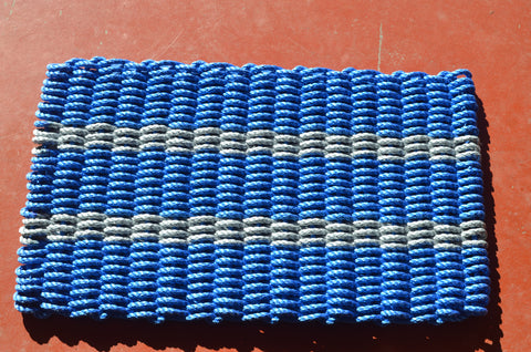 Maine Rope Mat - Small 5 Stripes