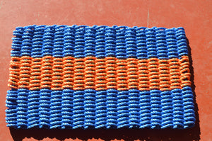 Maine Rope Mat - Small 3 Stripes - Custom Cordage