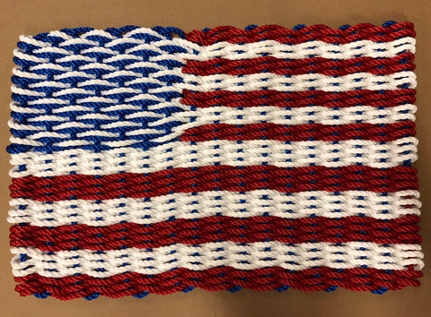 Maine Rope Flag - All American, Red, White & Blue