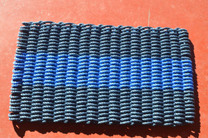 Maine Rope Mat - Large 3 Stripes - Custom Cordage