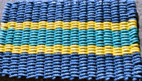 Maine Rope Mat - Large 5 Stripes - Custom Cordage