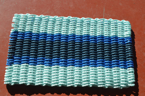 Maine Rope Mat - Small 5 Stripes - Custom Cordage