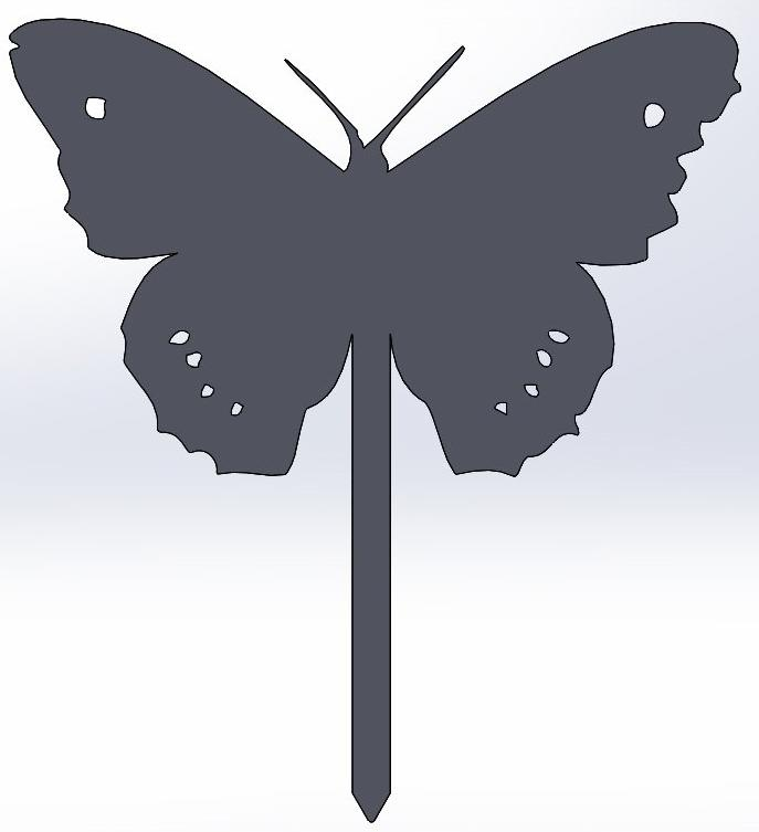 Butterfly 2 Yard Stake