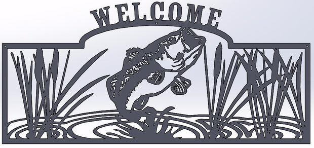 Bass Jumping Welcome Sign