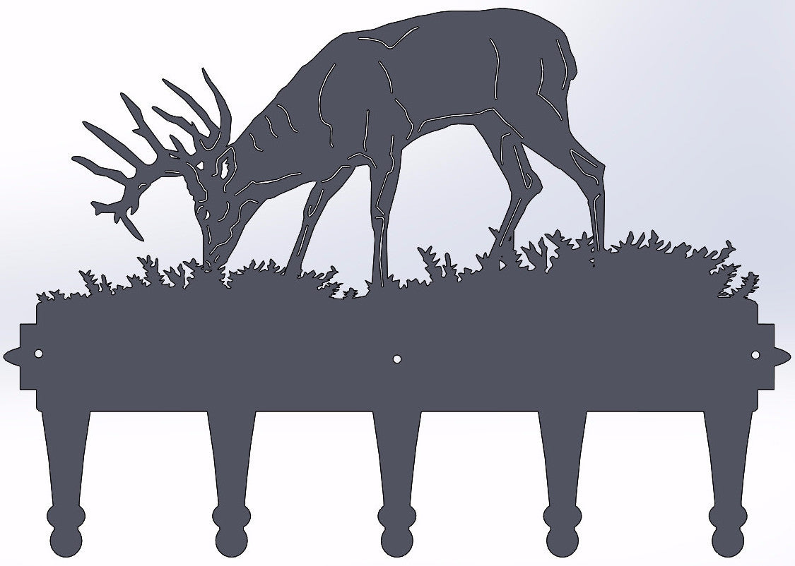 Deer Grazing Coat Hanger