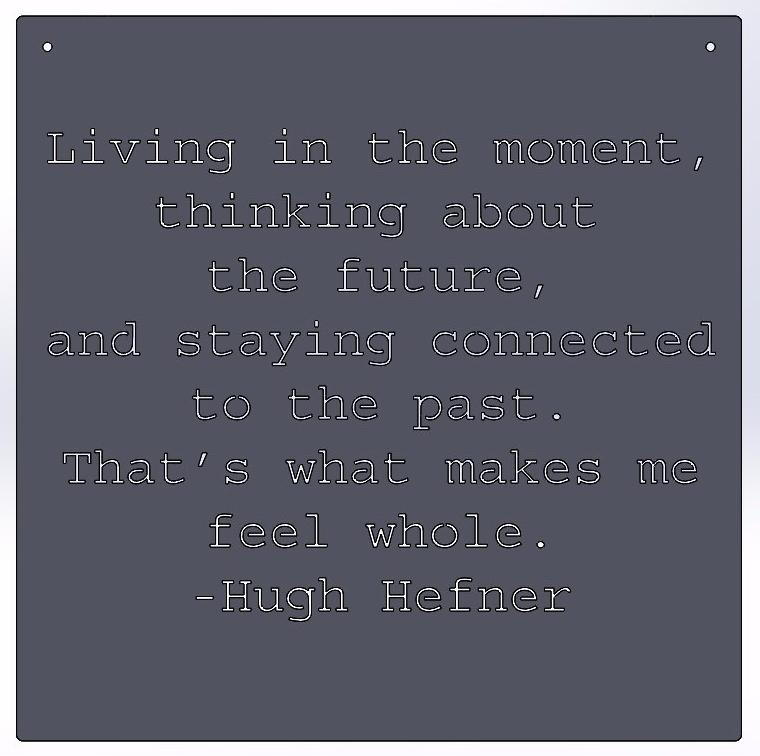 Living in the moment -Hugh Hefner