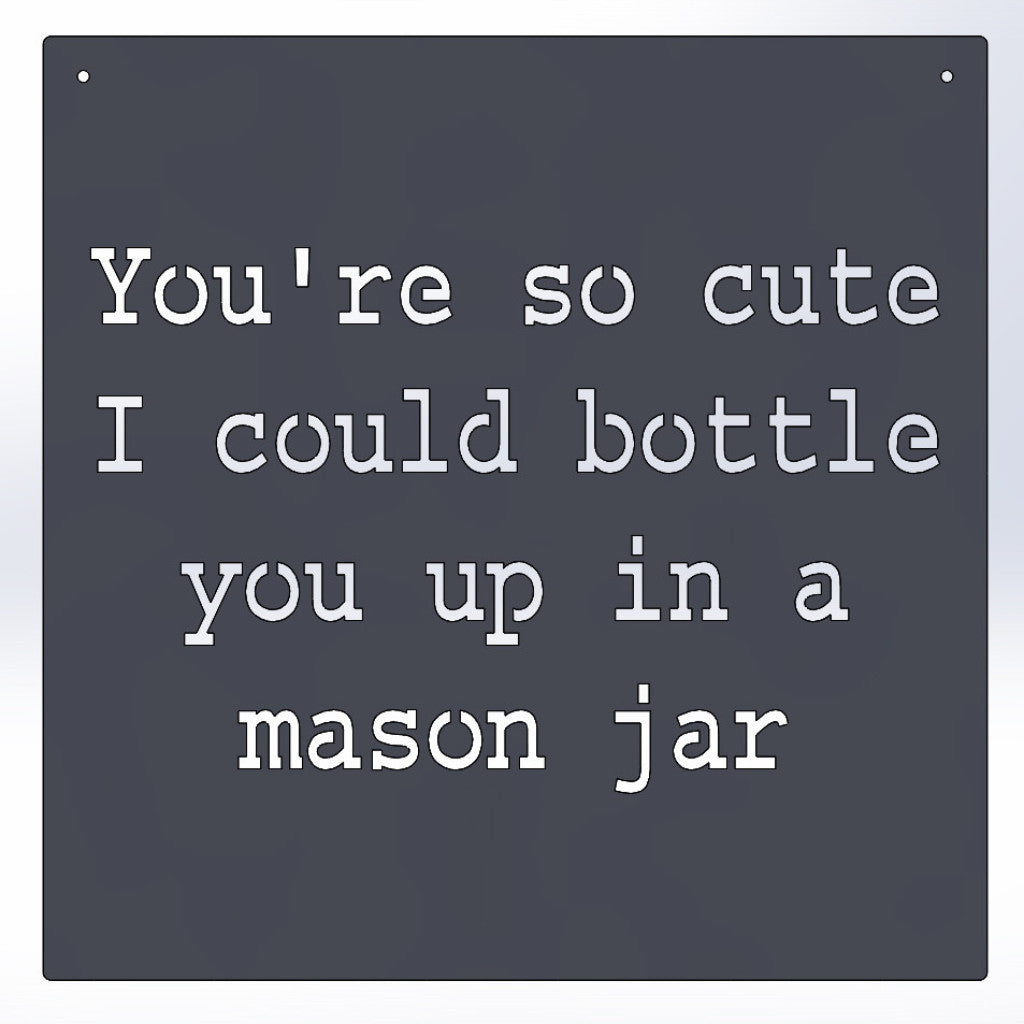 You're So Cute I Could Bottle You Up In A Mason Jar