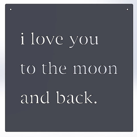 ...moon and back.