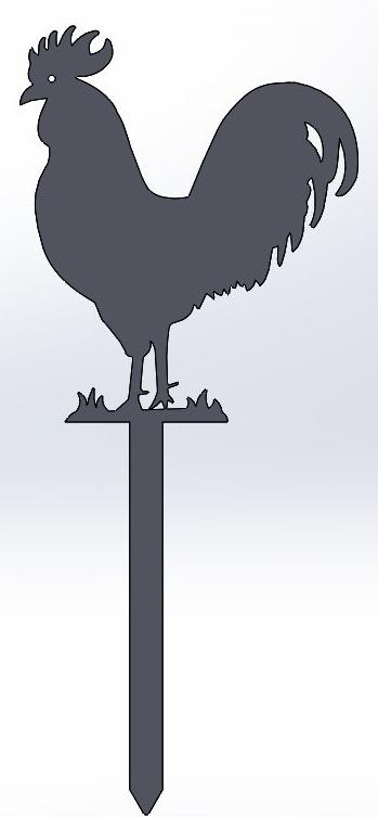 Rooster Yard Stake