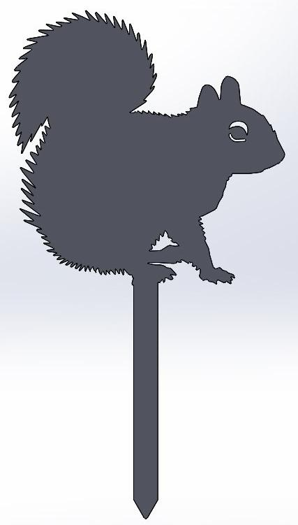 Squirrel Yard Stake